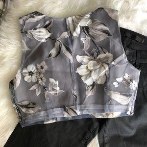 Xiano Ling Miao Tops - Xiang Long Miao • Floral Crop Top
